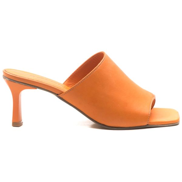 Milosine Kadın Deri Terlik Oranj