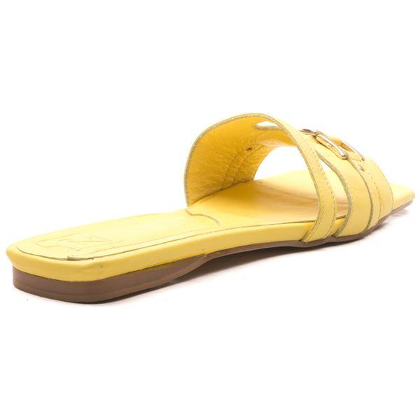 Lonicera Kadın Deri Terlik Sarı
