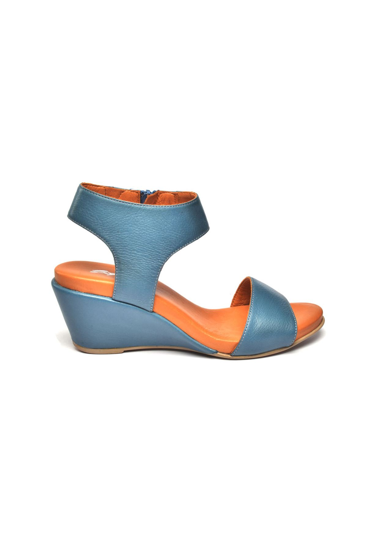 Pietra Ortopedik Sandalet Mavi
